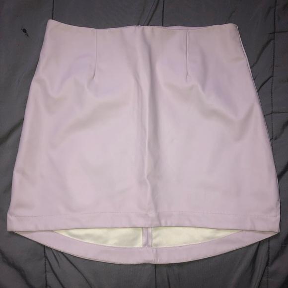 BCBGeneration Dresses & Skirts - BCBG faux leather pink skirt